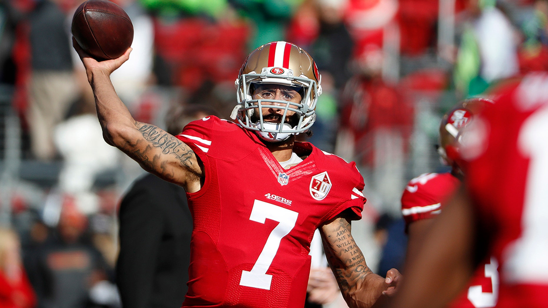 "Washington Redskins coach Jay Gruden said last week the team ""talked about and discussed"" bringing in Kaepernick for a tryout ""but we will probably go in a different direction."""