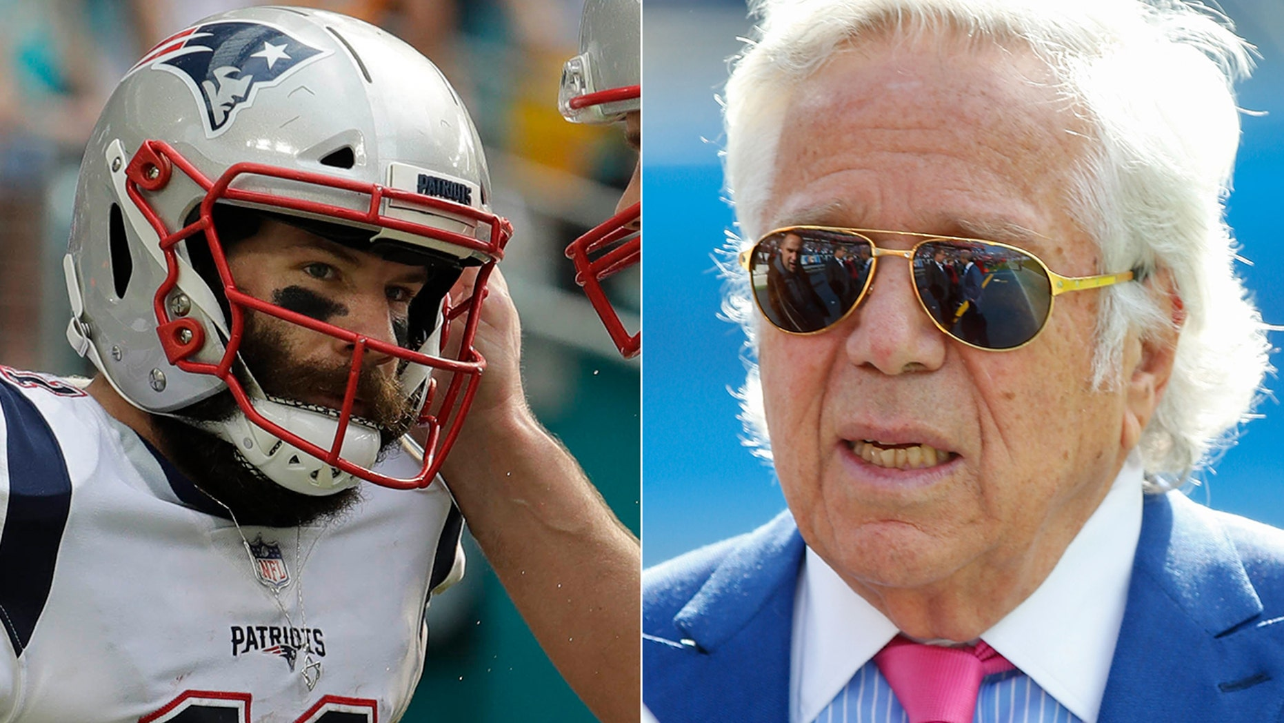 New England Patriots' Julian Edelman and Robert Kraft paid tribute to the Tree of Life shooting victims ahead of Sunday's game.