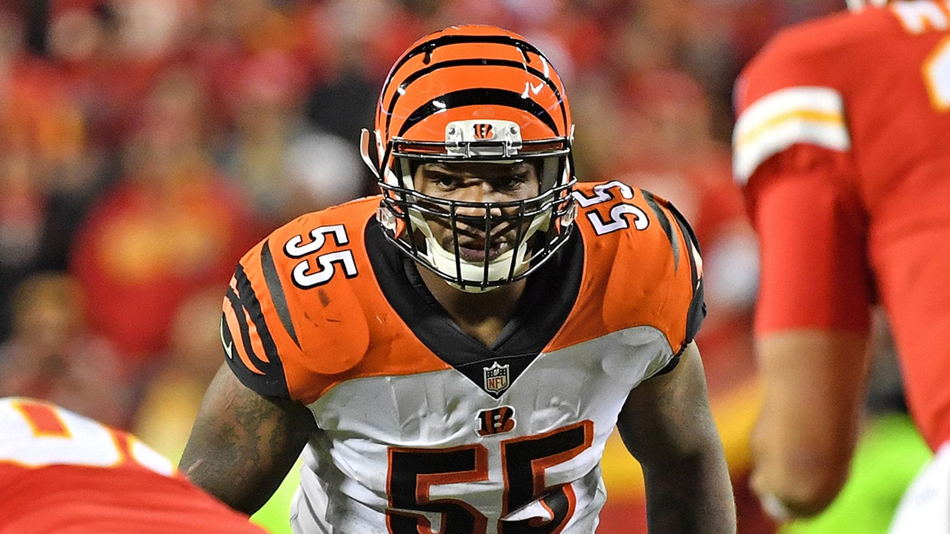 Linebacker Vontaze Burfict # 55 of the Cincinnati-Bengals may be over.