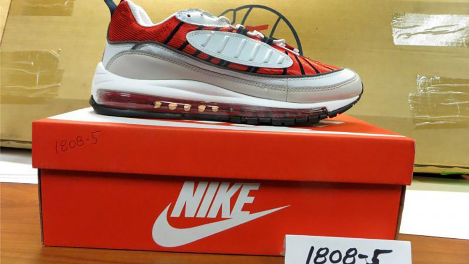 san francisco 7ce9b 75ed6 More than 9,000 pairs of imitation Nike sneakers, valued at nearly  1.7  million, were