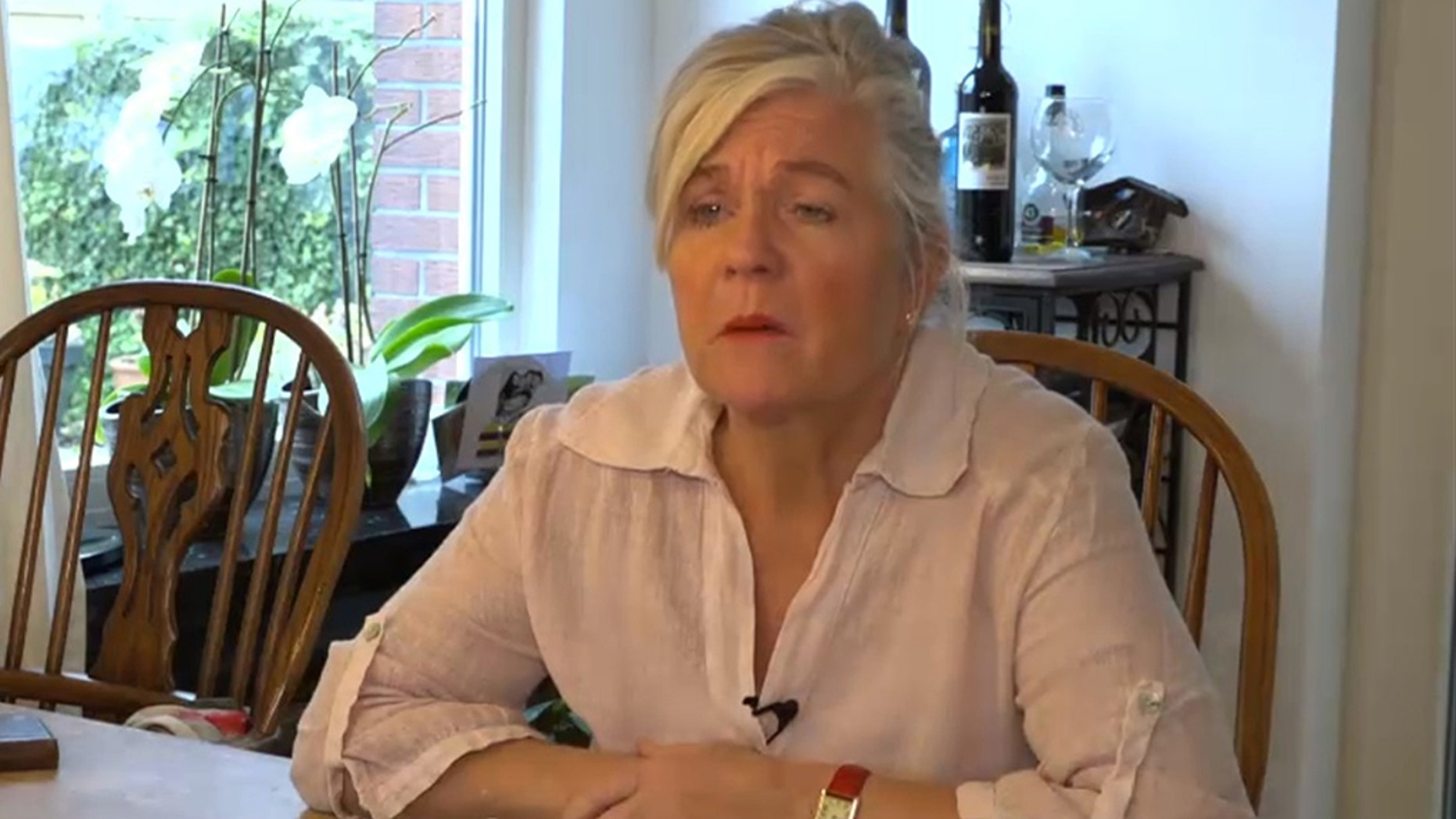 Petra van Kalmthout said she now wears a prosthetic eye.