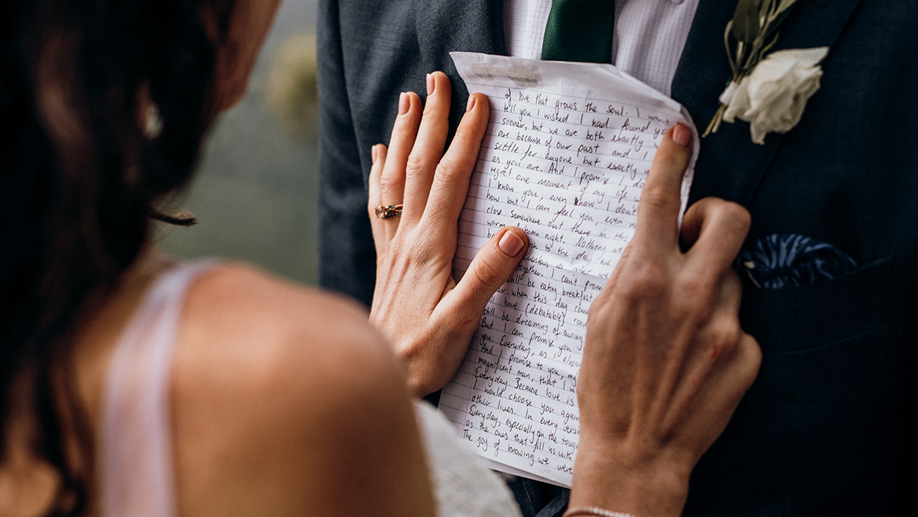 Bride Reads Groom Letter She Wrote To Future Husband Before They