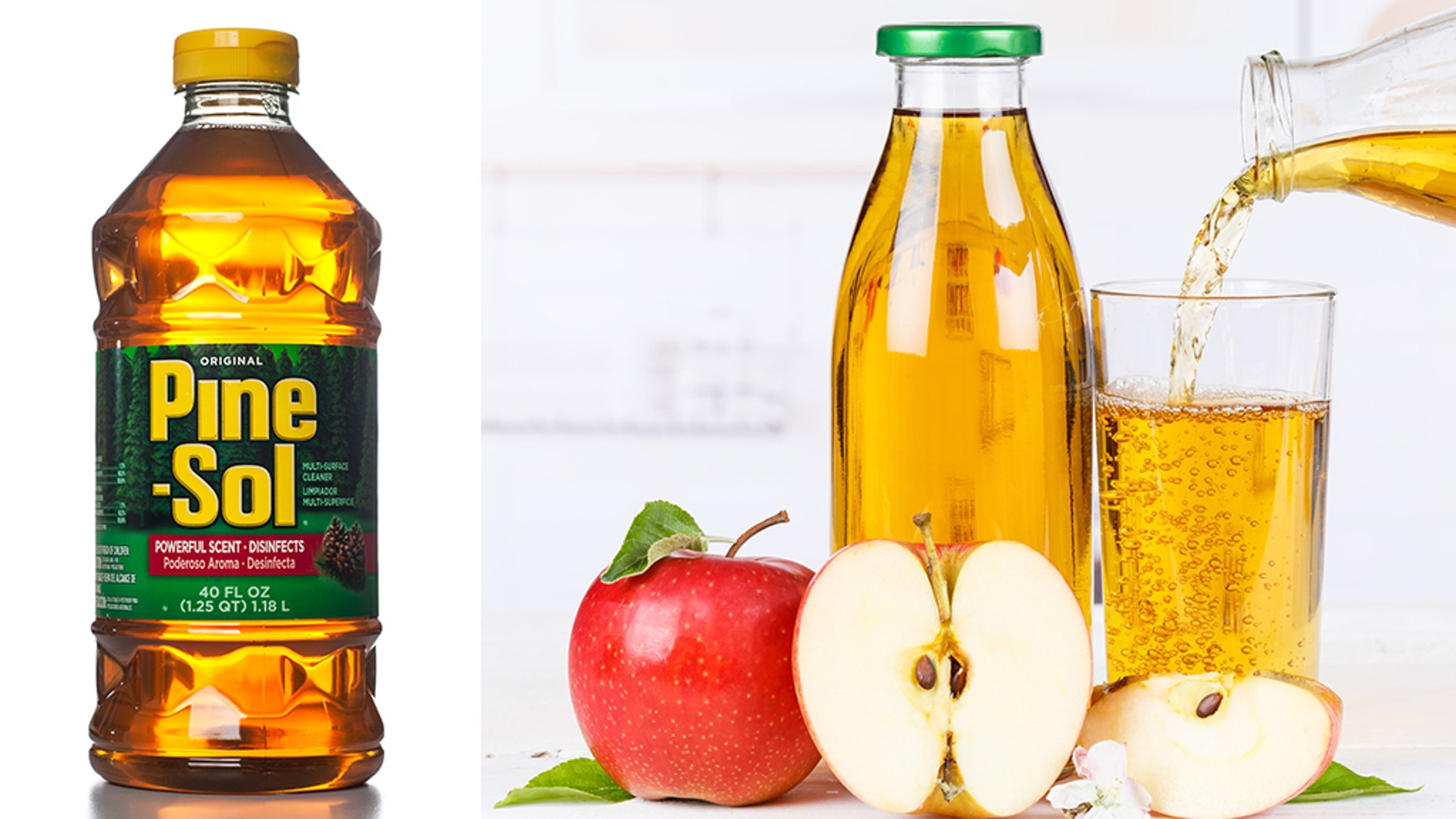 "A teaching assistant at a preschool in Hawaii accidentally gave children Pine-Sol cleaning fluid instead of apple juice, health officials said.<br data-cke-eol=""1"">"
