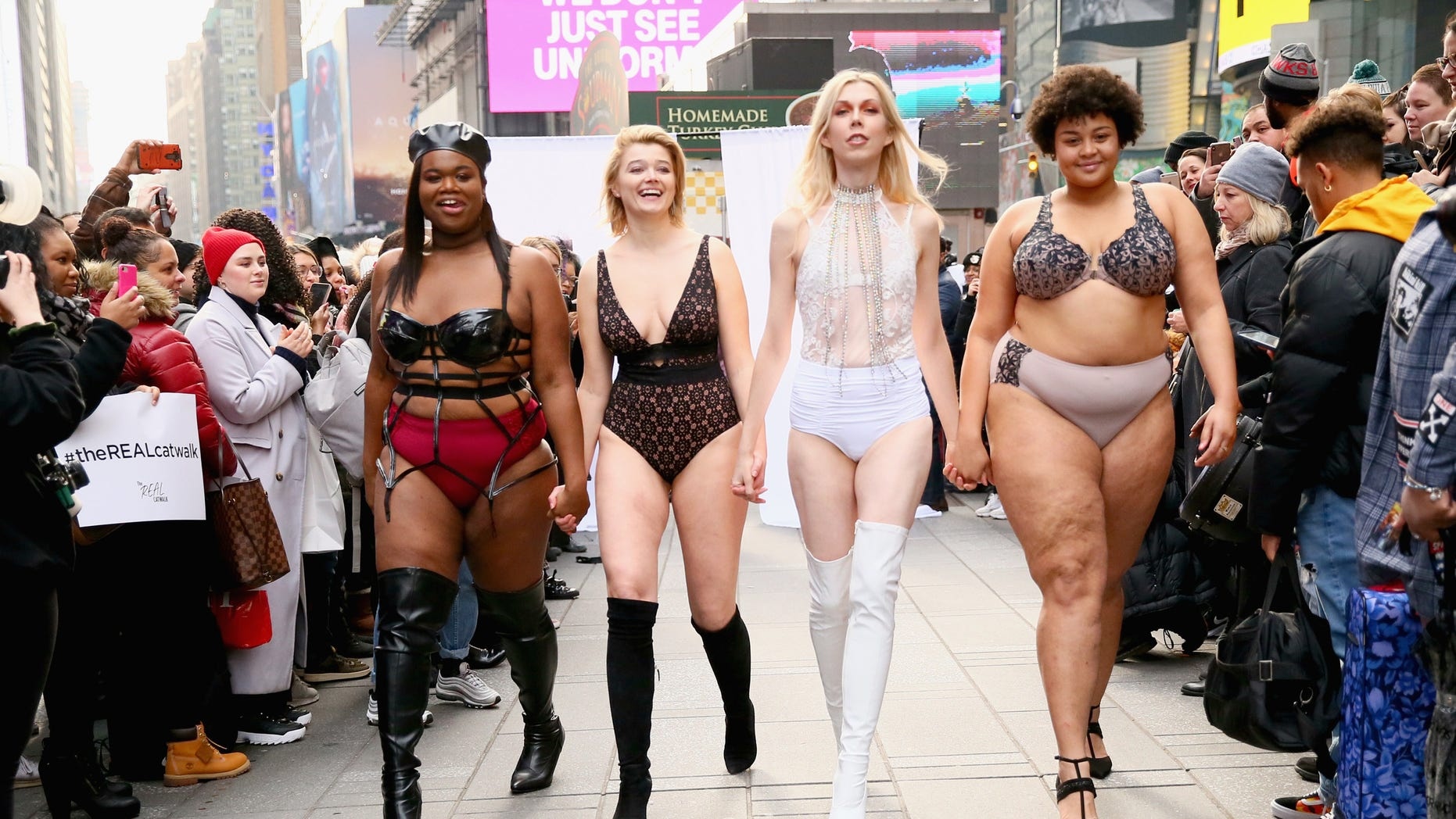 """""""A lot of people feel unattractive after watching it,"""" said the organizer of Saturday's """"Real Catwalk."""""""