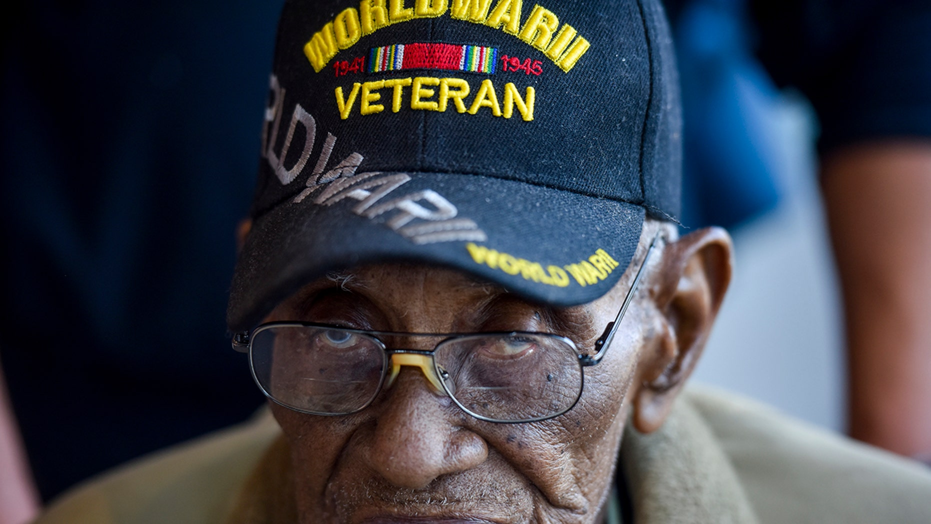 Richard Overton, 112, visits the National Museum of African American History and Culture, April 8, 2018, in Washington, D.C. (Getty Images)