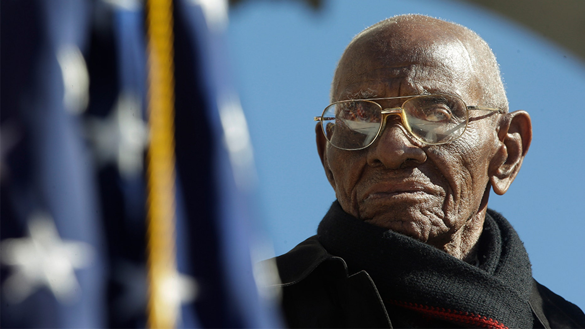 America's oldest veteran, Richard Overton —who served in the Army during World War II and credited God, whiskey and cigars for his longevity —died Thursday in Texas at the age of 112. (AP Photo/Pablo Martinez Monsivais)