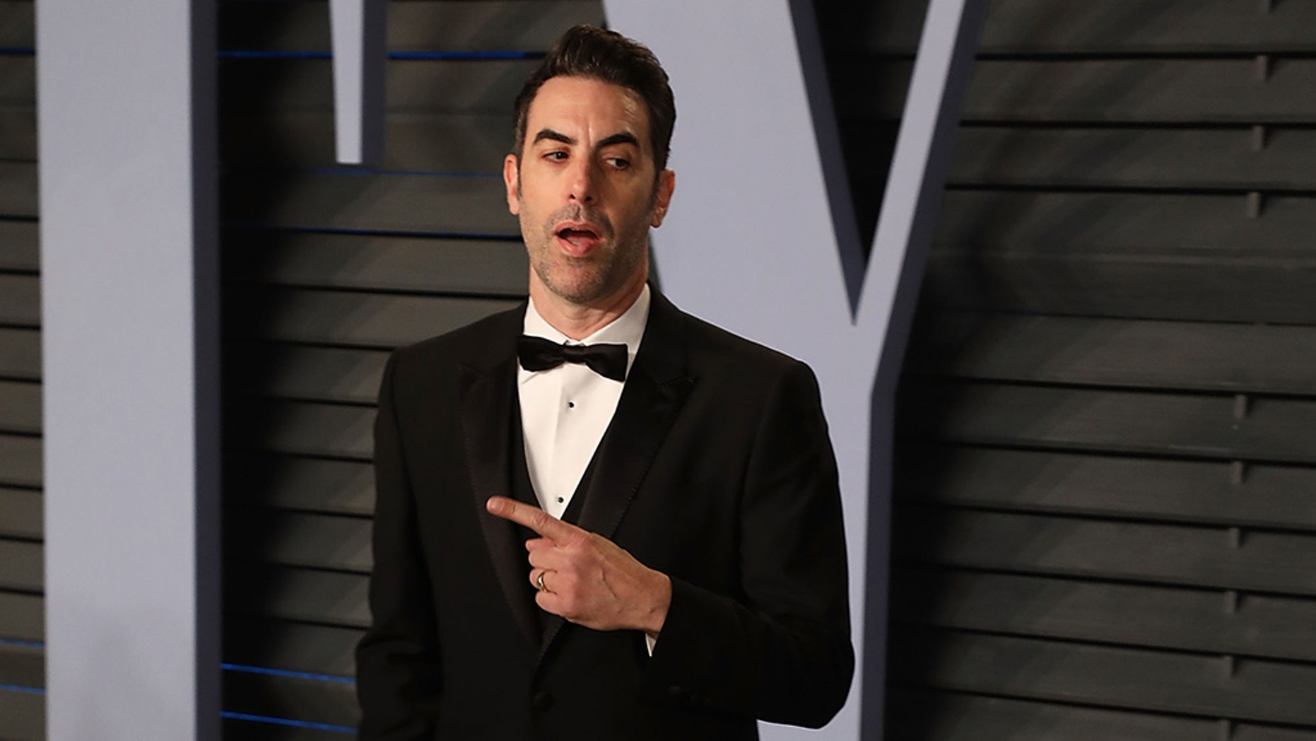 BEVERLY HILLS, CA - MARCH 04: Actor Sacha Baron Cohen attends the 2018 Vanity Fair Oscar Party hosted by Radhika Jones at the Wallis Annenberg Center for the Performing Arts on March 4, 2018 in Beverly Hills, California. (Photo by Taylor Hill/FilmMagic)