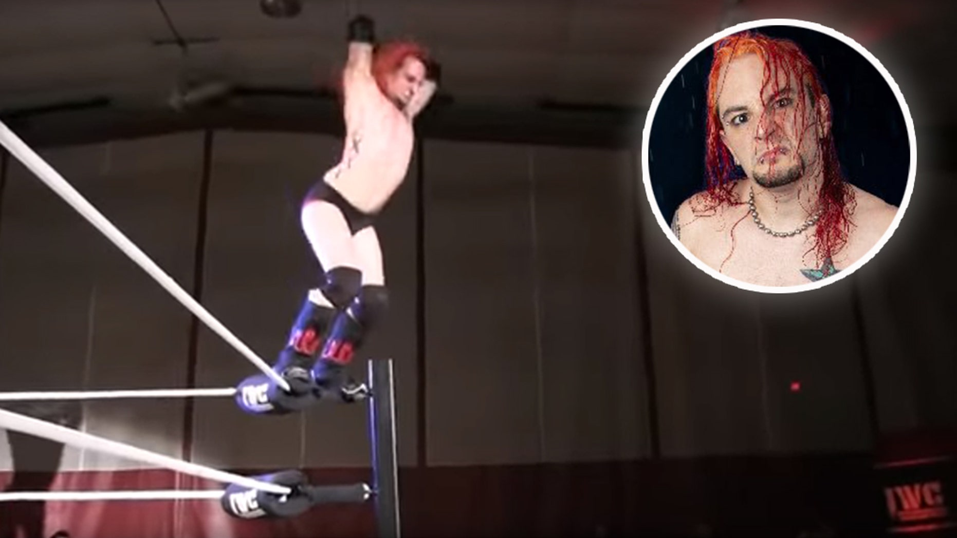 Wrestler Shawn Phoenix broke his skull after he dove from the top rope onto a table before hitting the ground.<br>