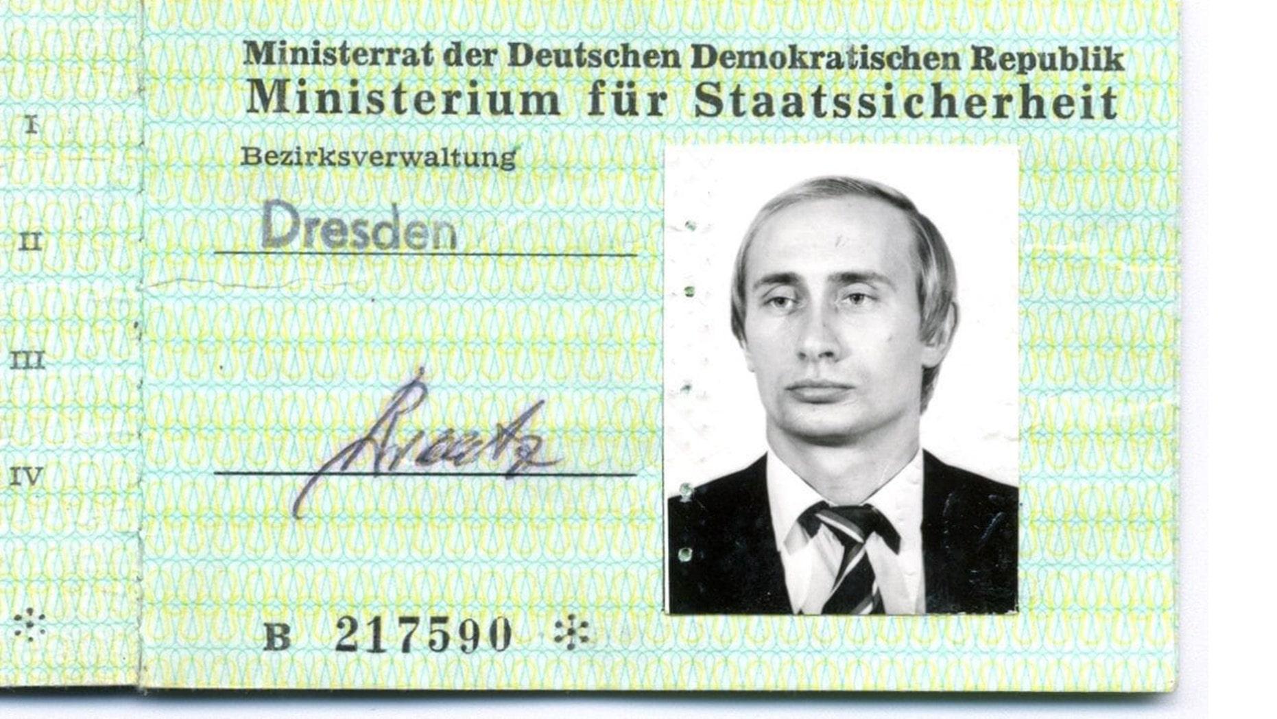Vladimir Putin's Stasi ID card has been found in Dresden.
