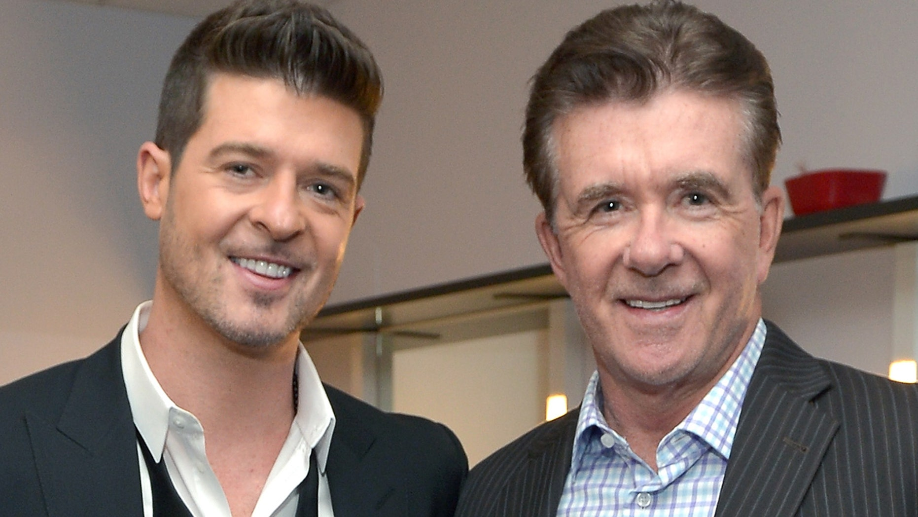 Robin Thicke opened up about losing his father, Alan, in 2016.