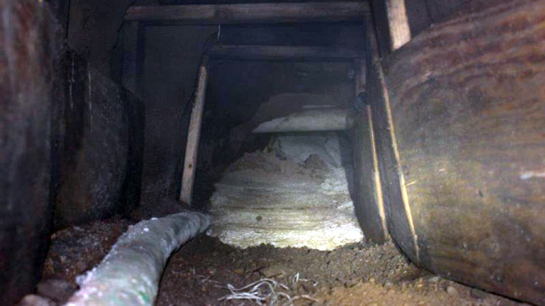 An illegal, unfinished cross-border tunnel running into the U.S.was uncovered by authorities Monday, Customs and Border Protection announced.
