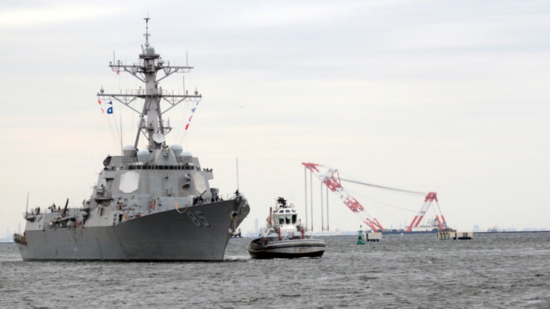 The guided-missile destroyer USS Mc Campbell in a 2015