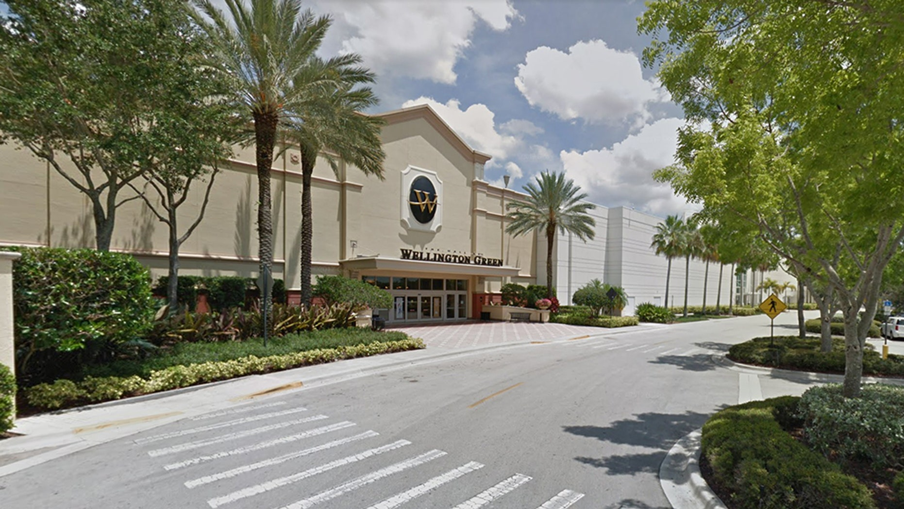 The Palm Beach Sheriff's Office tweeted that a suspect shot at deputies and hit a K9 officer near The Mall at Wellington Green in South Florida. (Google Maps)