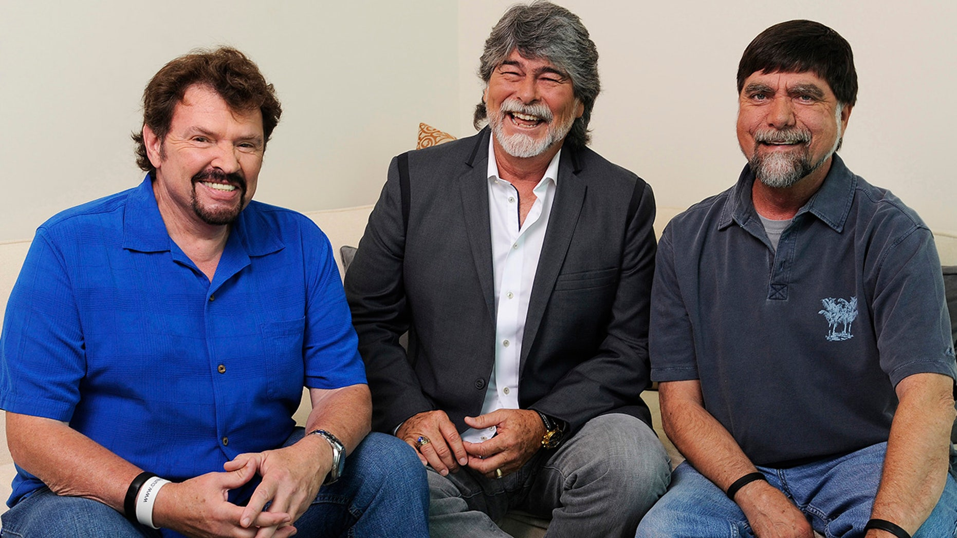 Jeff Cook, Randy Owen and Teddy Gentry of country band Alabama