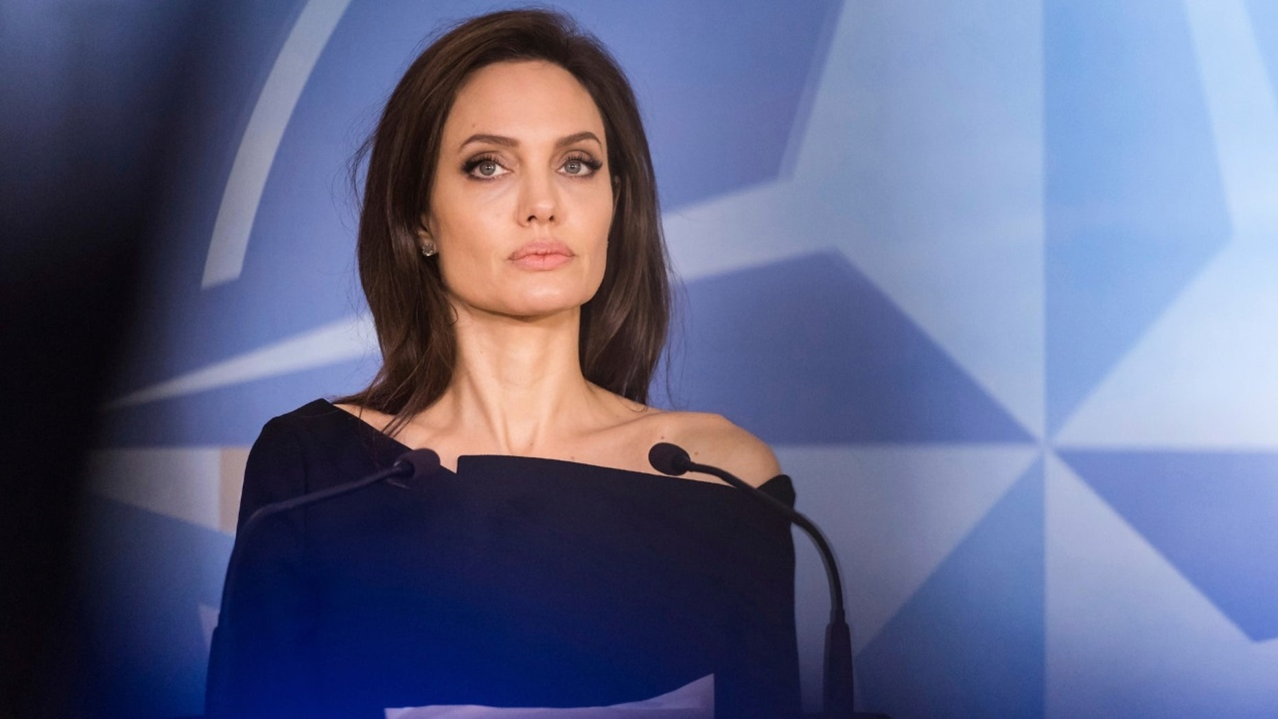 Angelina Jolie hinted she was considering shifting to politics.