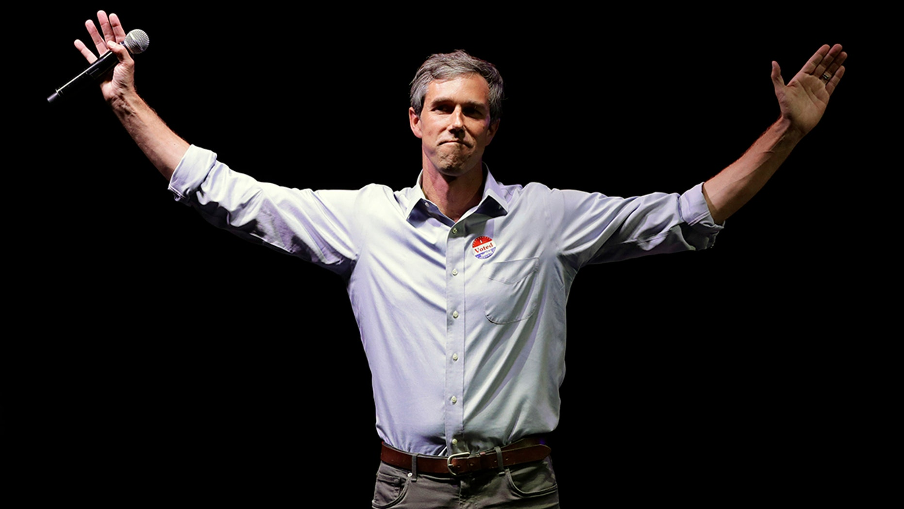 FILE: Rep. Beto O'Rourke, D-Texas, the 2018 Democratic candidate for U.S. Senate in Texas, makes his concession speech at his election night party in El Paso, Texas, Nov. 6, 2018.