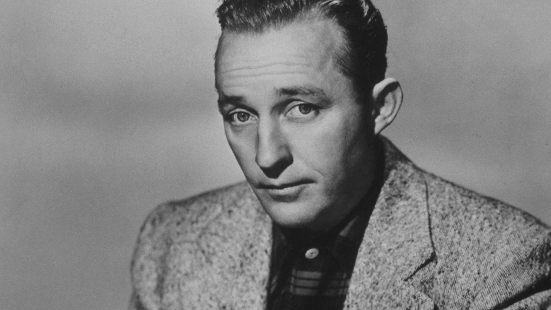 "American entertainer Bing Crosby is well known for his recording of ""White Christmas."""