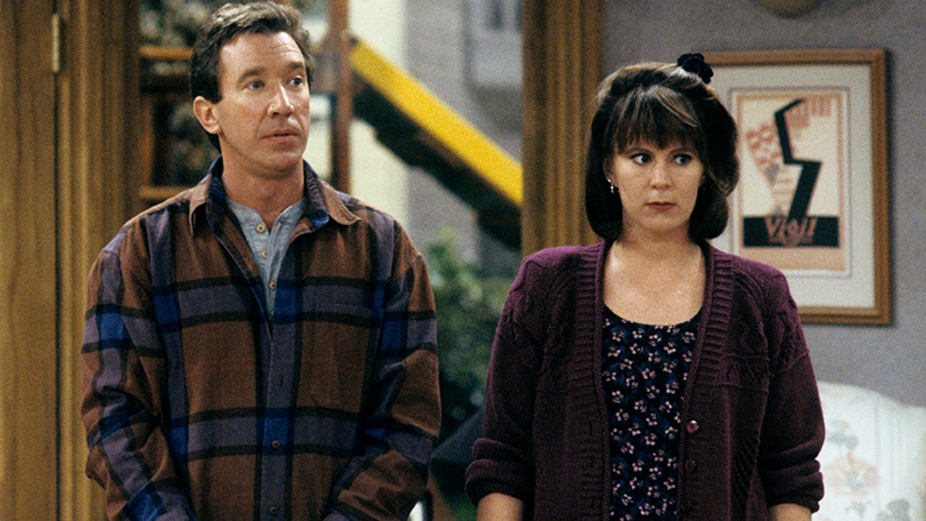 "Tim Allen and Patricia Richardson on ""Home Improvement."" — Getty"
