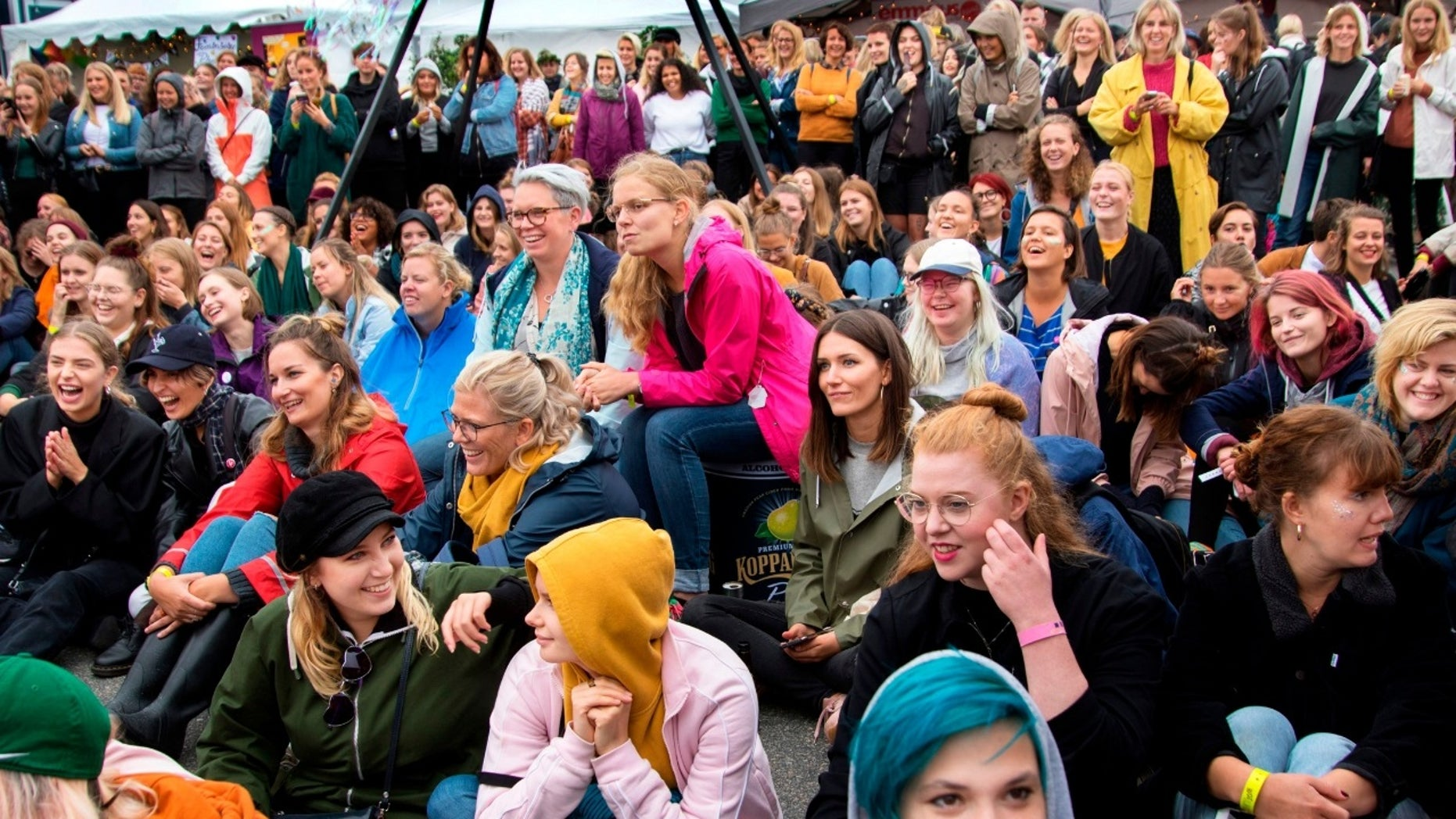 People gathered at the Statement Festival in Gothenburg, Sweden, on Aug. 31, 2018.