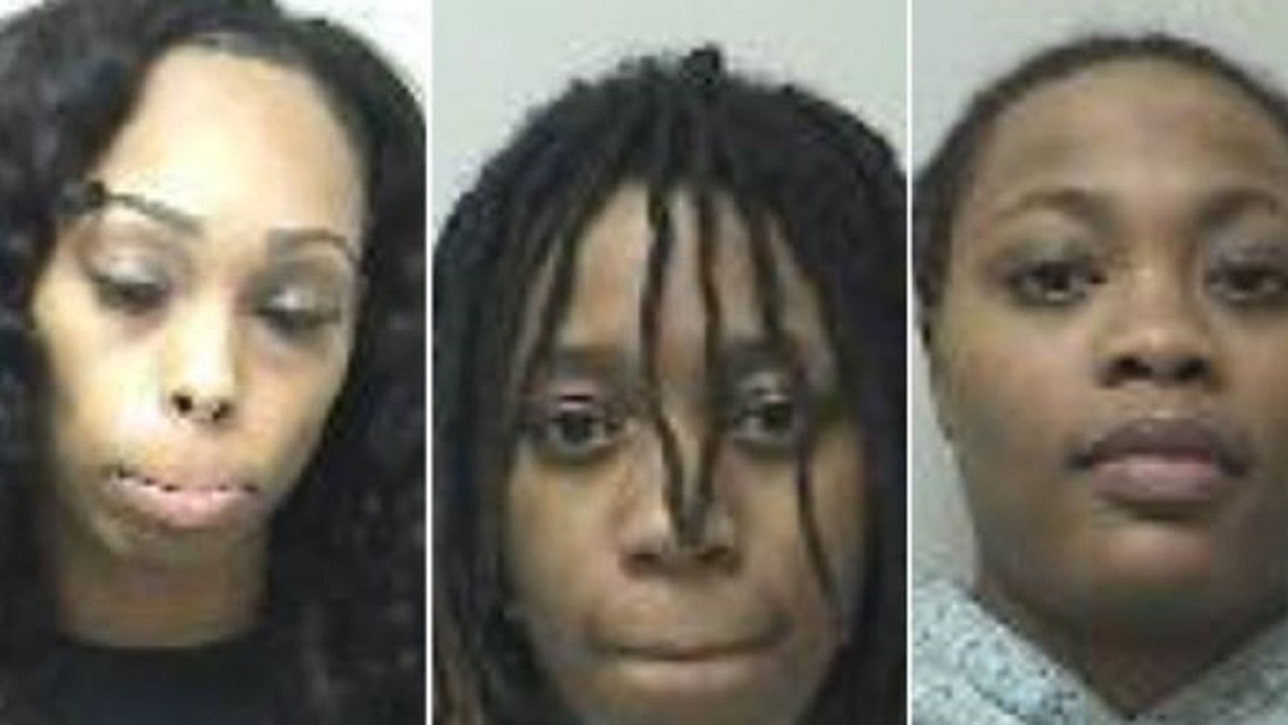 Three adults, pictured, and a 17-year-old were arrested after a mall fight broke out in Connecticut, authorities said. The adults were19-year-old Dynastee McCoy from Wethersfield, 18-year-old Inaija Williams from Hartford, and 18-year-old Naejza Bares from New Britain, police said.