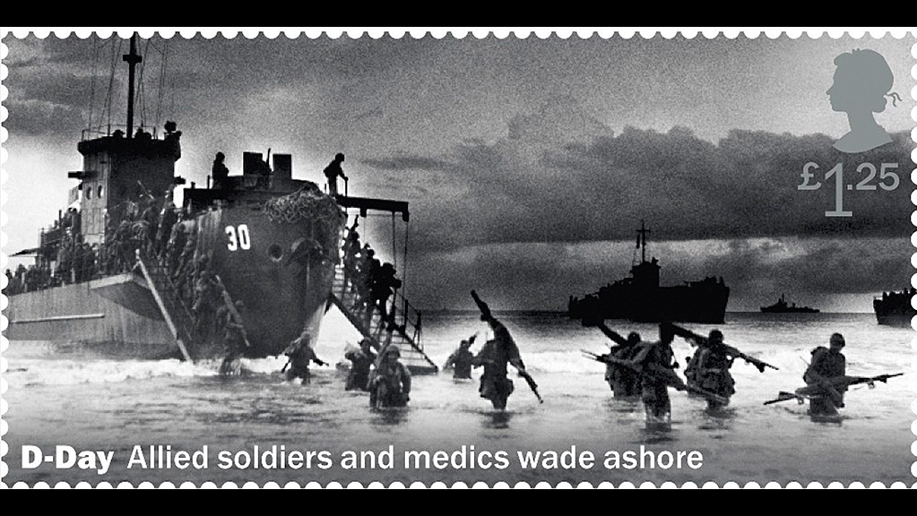 Britain's postal service issued a D-Day commemorative stamp that showed U.S. troops landing in what was Dutch New Guinea--8,500 miles from France.