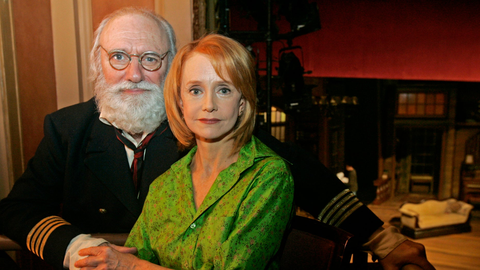 """In this Oct. 6, 2006 file photo, actors Philip Bosco and Swoosie Kurtz, who are appearing in George Bernard Shaw's """"Heartbreak House,"""" pose at the American Airlines Theatre in New York. Bosco, the Tony Award-winning actor known for his roles in films """"Working Girl"""" and """"The Savages,"""" has died age 88."""