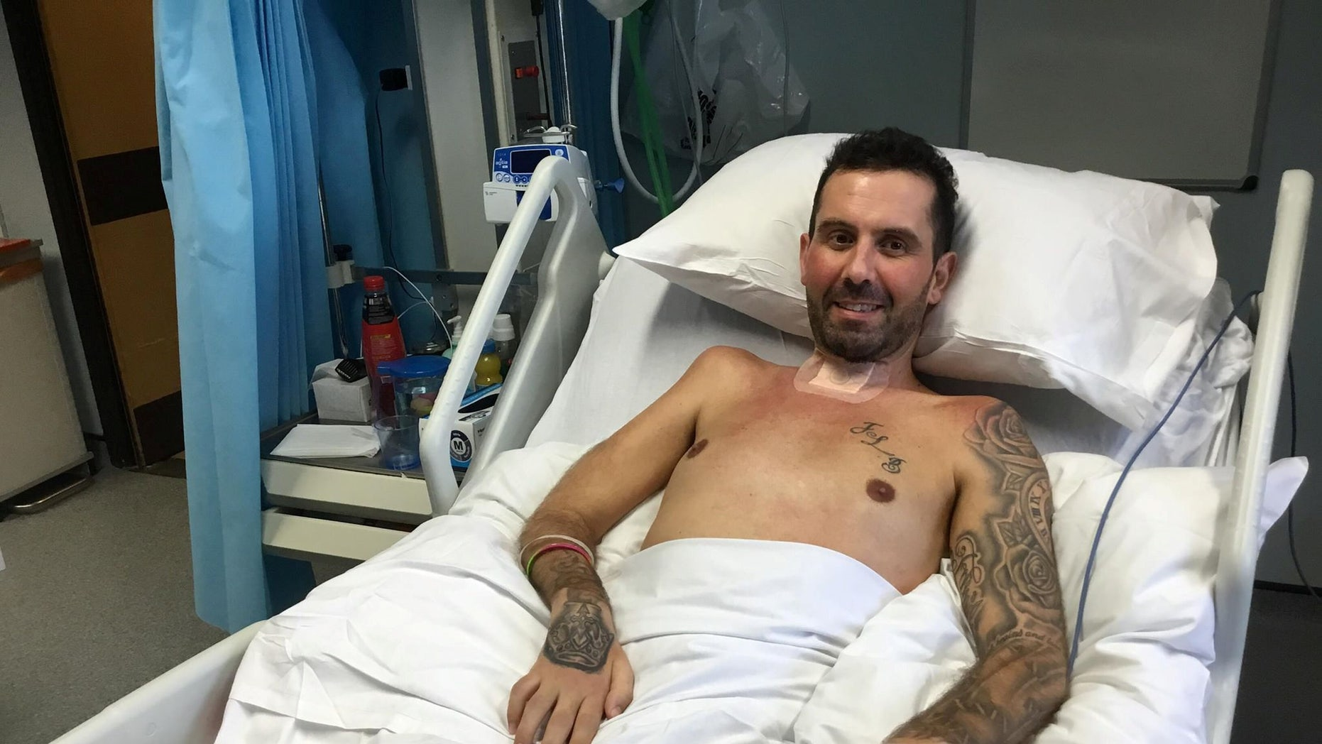 David Braham, 40, became unwell after a chicken curry meal and within a matter of days was fighting for his life in an induced coma.