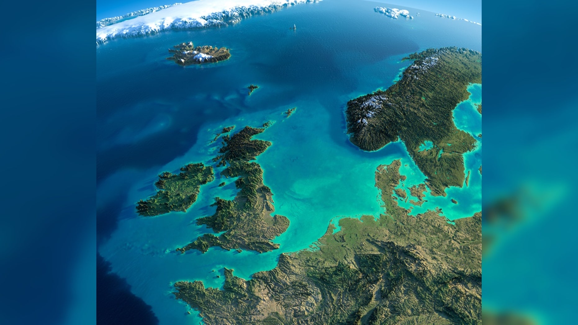 Doggerland, named for Dogger Bank, is now beneath the North Sea off the east coast of England.