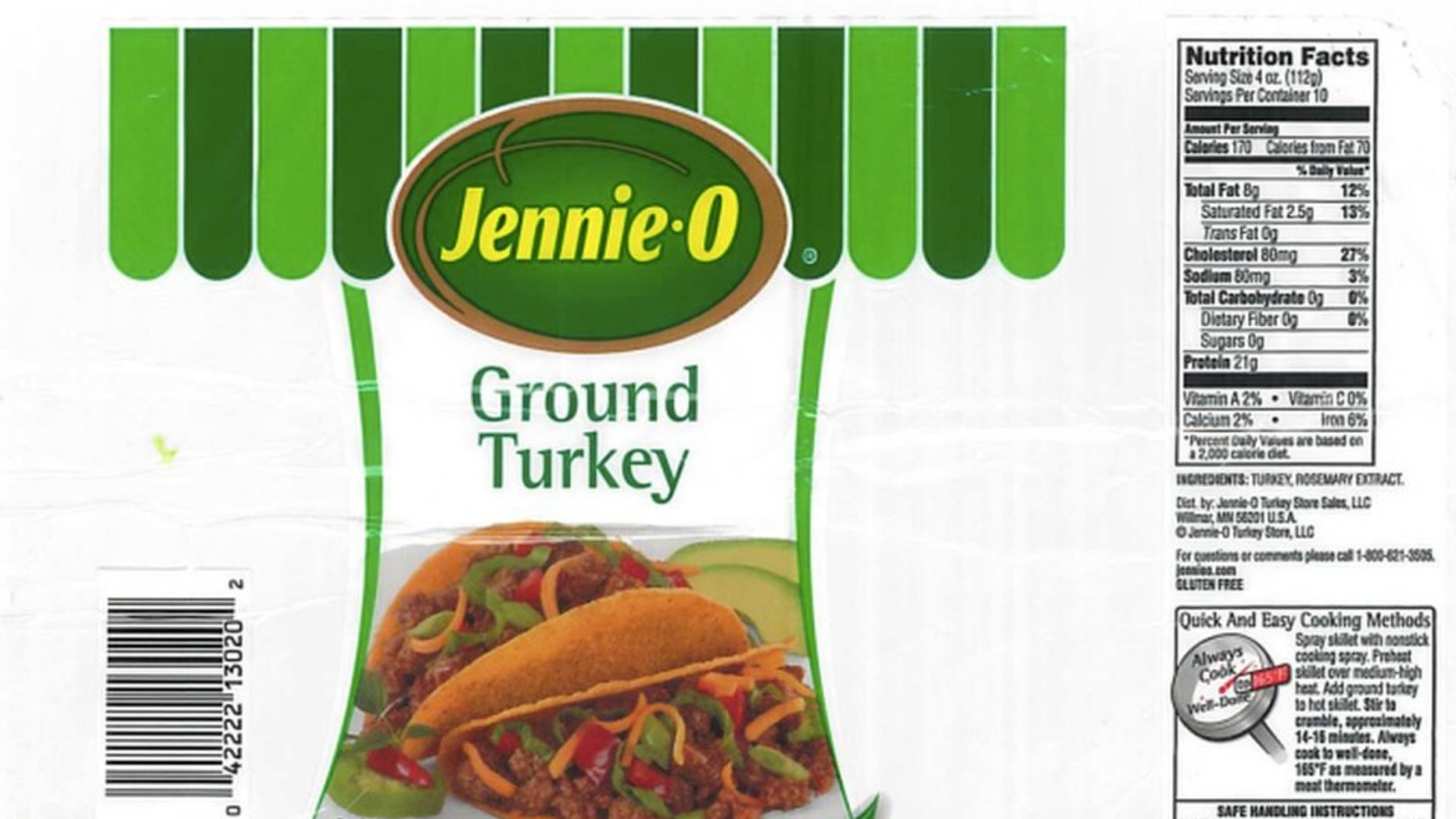 Jennie-O Recalls Raw Ground Turkey Products