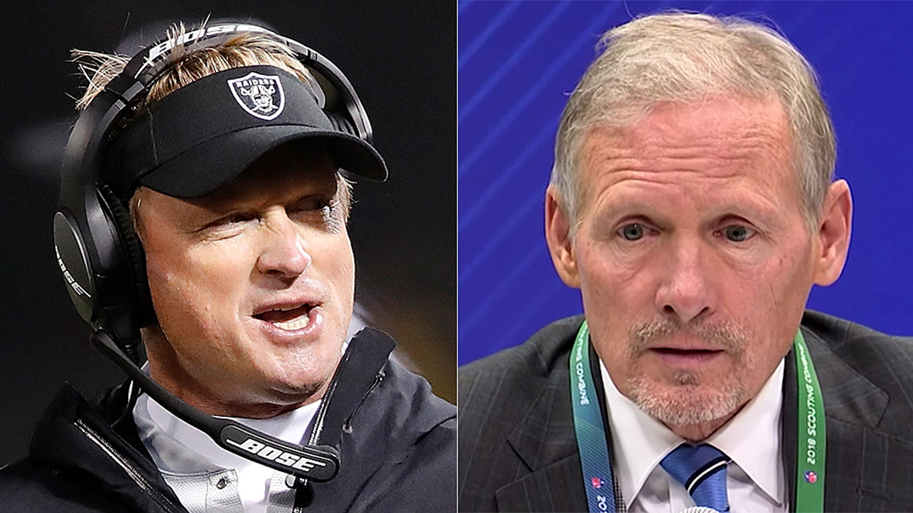 Raiders head coach Jon Gruden and incoming G.M. Mike Mayock honed their skills on television.