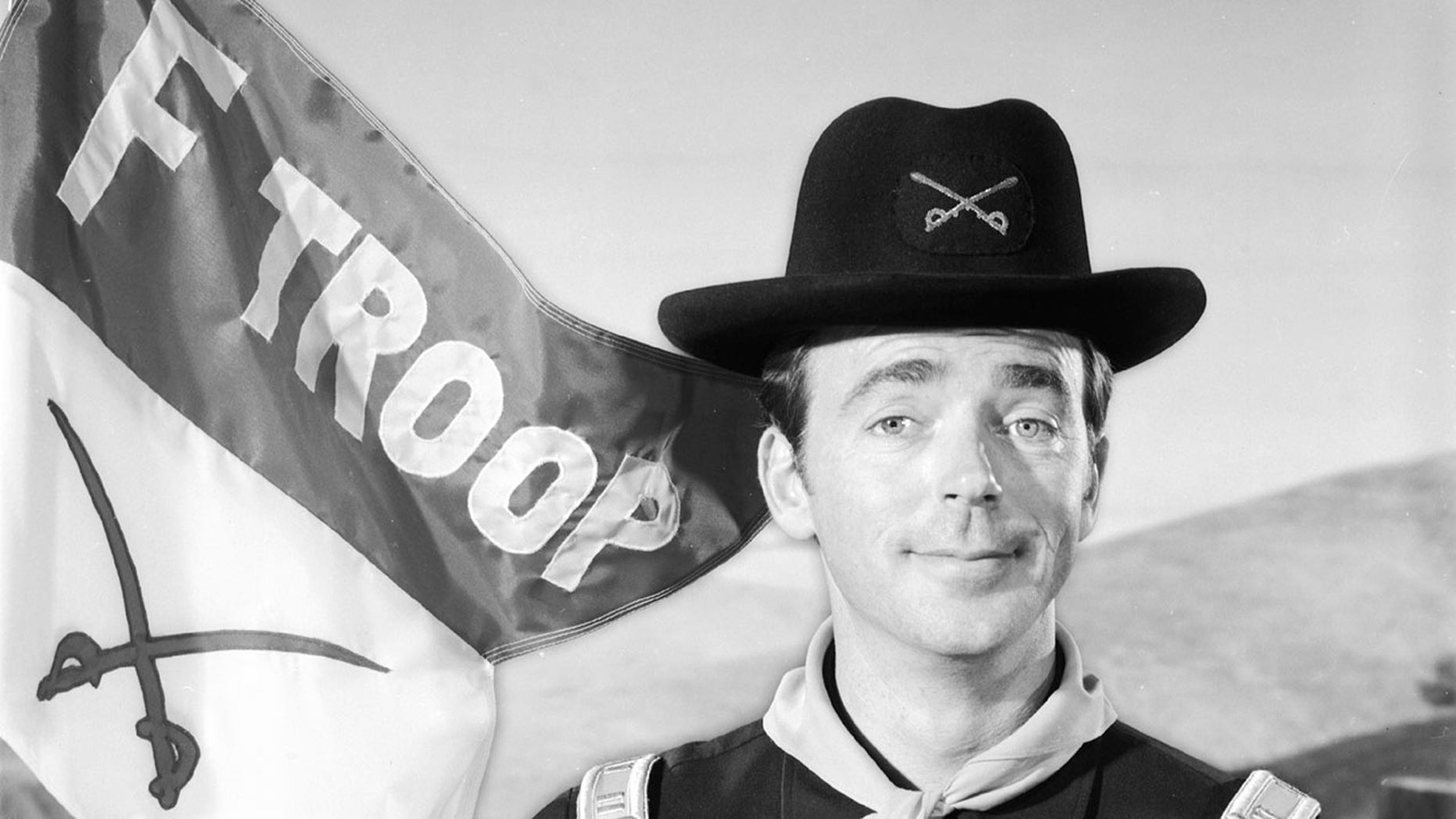Ken Berry, who portrayed Capt. Wilton Parmenter on F Troop during a 1960s, died Saturday during age 85, according to reports. (ABC around Getty Images)