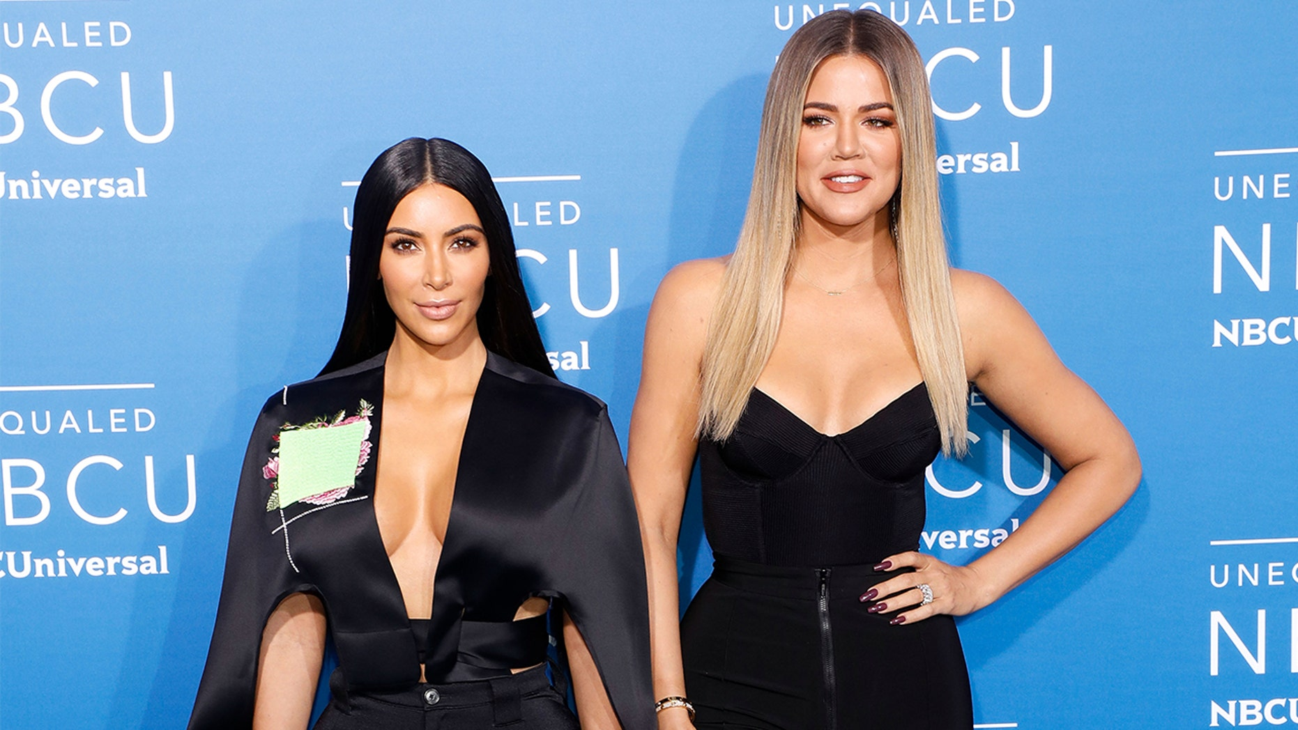 Kim Kardashian West and Khloe Kardashian pictured here in May 2017.