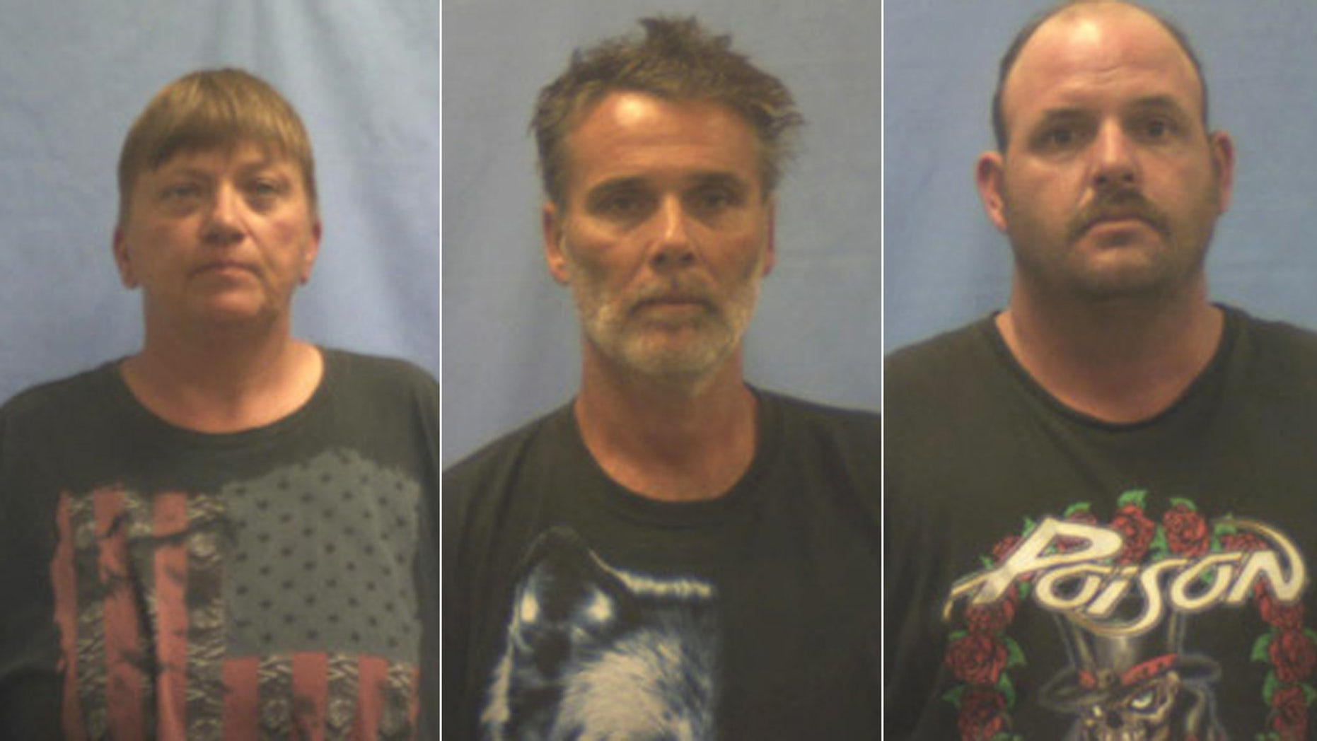 Kimberly Younger, Michael Fowler and Rusty Frasier are charged with murder for the deaths of two fair workers. (Van Buren Police)