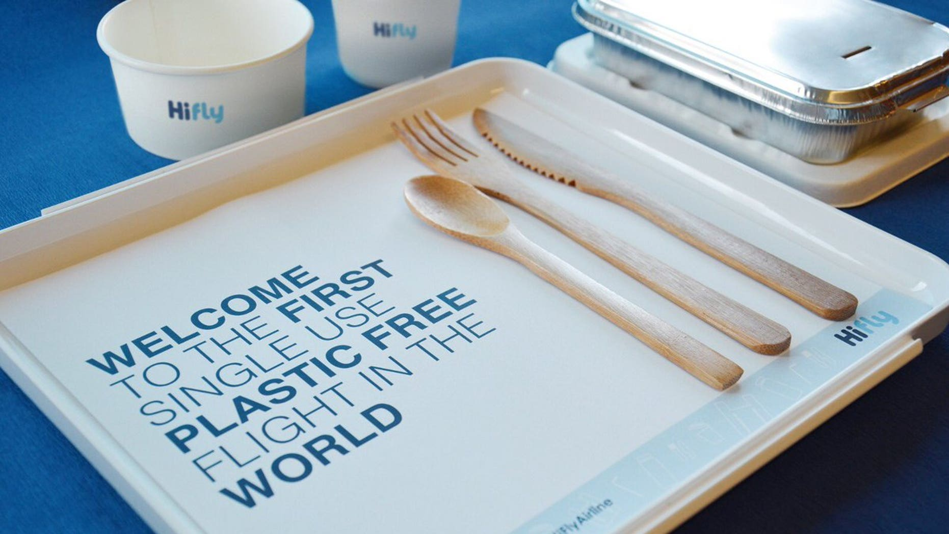 The airline will be replacing plastic containers with natural bamboo cutlery and compostable containers, among other innovations. Three more test runs will follow.