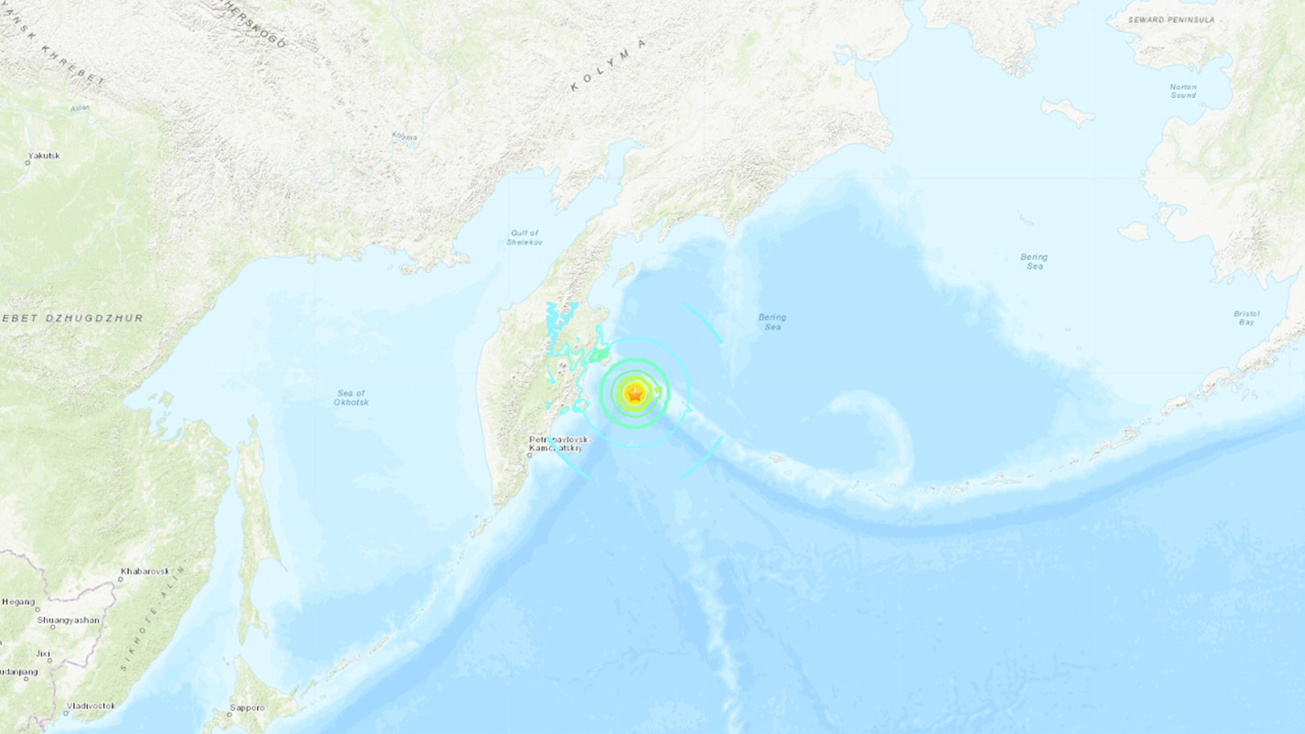 The 7.4 earthquake struck off the east coast of Russia early Friday.
