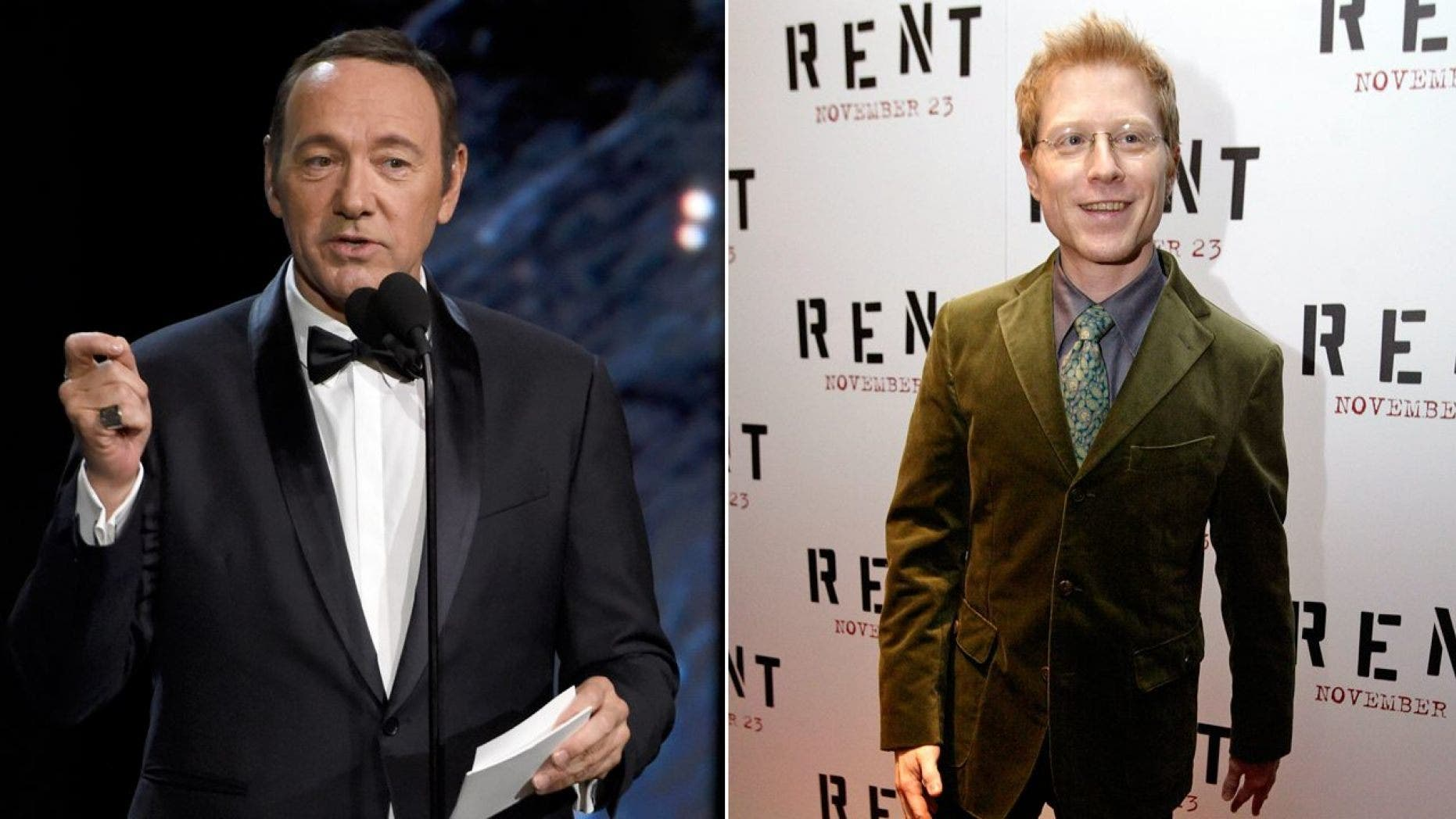 Anthony Rapp, right, said that Kevin Spacey, then 26, made a sexual advance toward him when he was 14 years old.