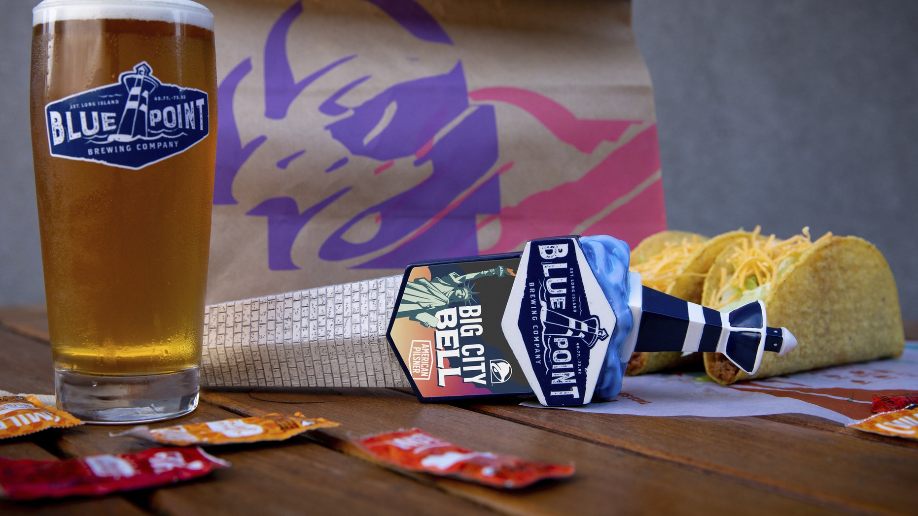 In partnership with Blue Point Brewing Company, three Taco Bell Cantina restaurants in Manhattan will soon sell an exclusive beer.