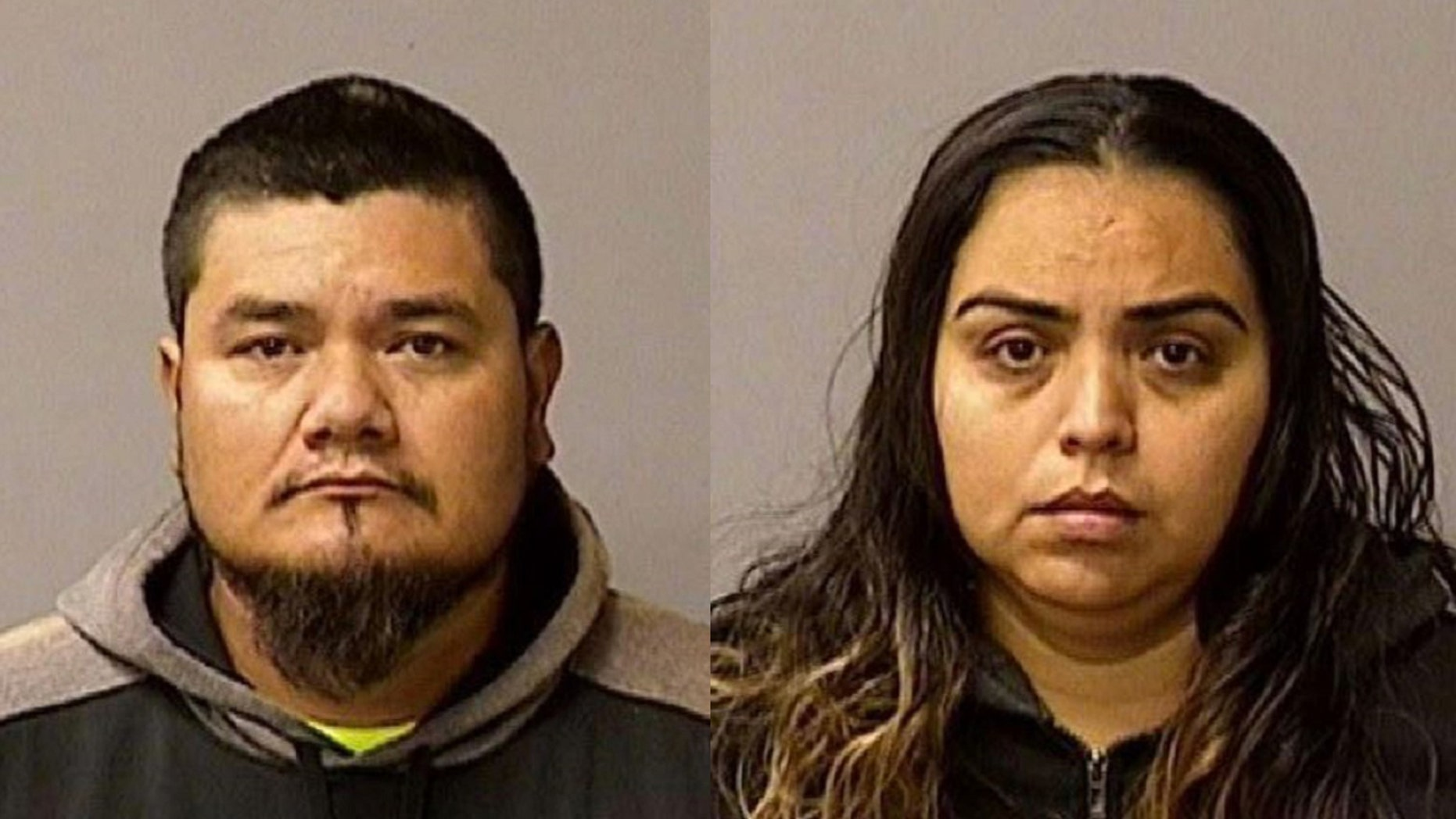 Conrado Virgen Mendoza, 34, left, by Chowchilla and Ana Leyde Cervantes, 30, by Newman, were arrested on Friday in connection with the death of a Newman Police Corps.