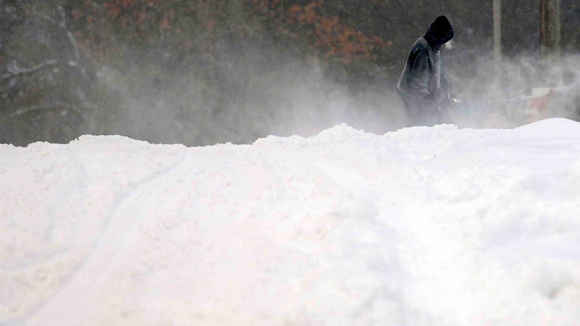 The prognosticators had issued a blizzard warning for parts of the Dakota and Minnesota, as a big winter storm brought heavy snow and gusty winds to the region. (Mike McCleary / The Bismarck Tribune via AP)