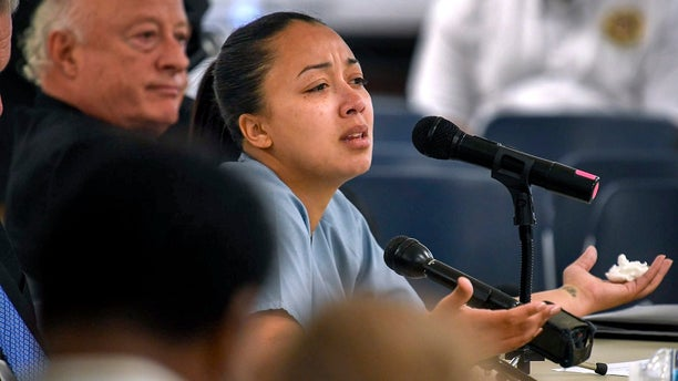 Cyntoia Brown appearing in court during her clemency hearing at the Tennessee Prison for Women in Nashville, Tenn.