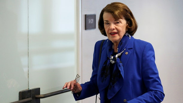 U.S. Sen. Dianne Feinstein, D-Calif., arrives for a Senate Intelligence Committee hearing on Capitol Hill in Washington, May 16, 2018. (Reuters)
