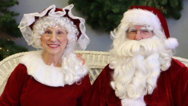Gene and his wife, Darlene, Hanson dress up as Mr. and Mrs. Claus every year for an event in their town and visit the nursing home.