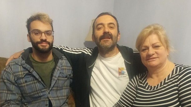 """Adriatik """"Tiko"""" Adviaj, his wife, Marjana, and their son, Enea, a Muslim family from Albania, volunteered to host """"Little John,"""" his father, and Barclay Stuart for the 12 days they spent in Connecticut for his surgery."""
