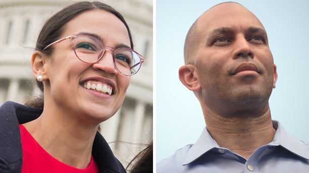 """Alexandria Ocasio-Cortez, D-N.Y., tweeted that a mainstream news story claiming she was challenging Rep.Hakeem Jeffries was """"gossip."""" (Getty, File)"""