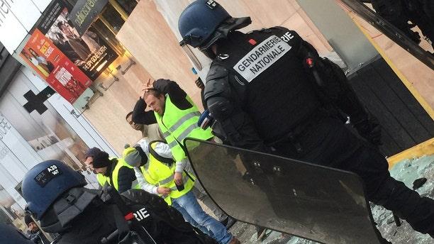 """Yellow vest"" protesters in Paris."