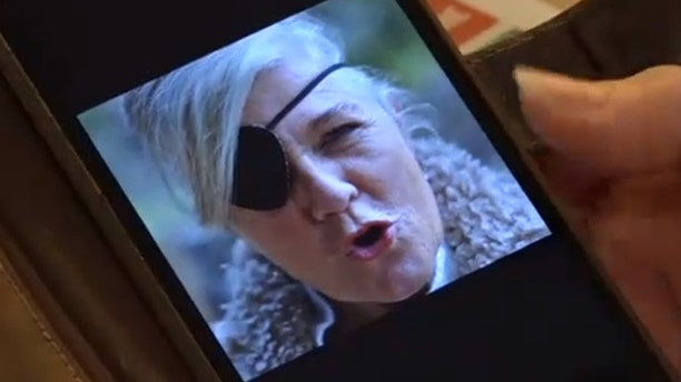 Petra van Kalmthout said she wore an eye patch for years before she was fitted for a prosthetic. (CEN)