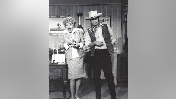 Rich Little and Lucille Ball.