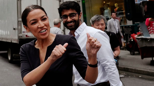 Both Ocasio-Cortez and Chakrabarti were named in the complaint. (AP Photo/Mark Lennihan, File)