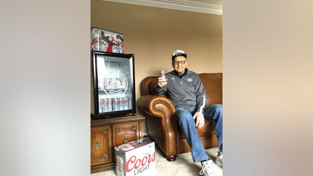 """""""We got to have the one at 4 o'clock. That's the most important one,"""" Andrew said of his daily beer."""