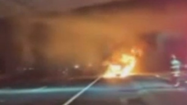 No one was seriously injured after a multiple vehicles were involved in a crash and explosion alongside I-80 in California.